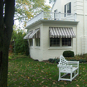 traditional canvas awnings chesterfield awning