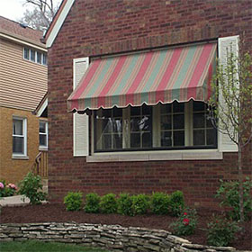 A residential awning
